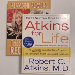 3/$20 NWT Atkins For Life and Suzanne Somers Paperback Cookbooks